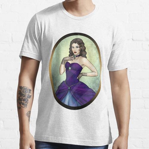 Prinzessin in einem blauen Ballkleid Essential T-Shirt