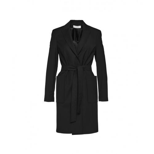 Kaos Damen Mantel mit Taillengürtel Schwarz