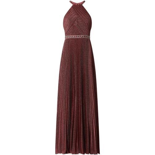 Luxuar Abendkleid mit Plisseefalten
