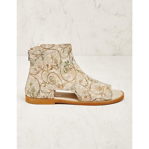 Deerberg Damen Leder-Stiefeletten Tiada grün Boots