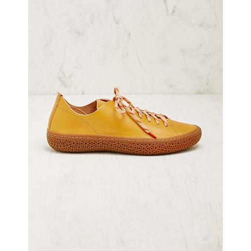 Think Damen Leder-Sneaker Liesel senf