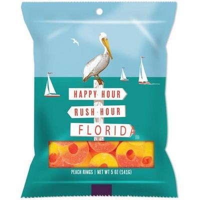 Amusemints 5 oz. Florida Peach Ring Gummy Candy