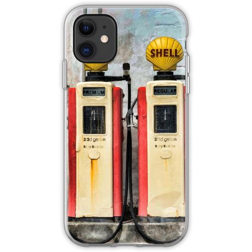 Alte Benzinpumpen Flexible Hülle für iPhone 11