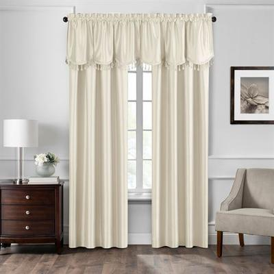 Luverne Curtain Panel, 52 x 84, Light Taupe