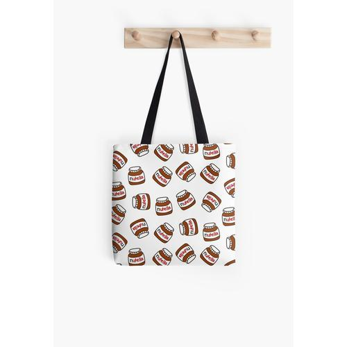 Nutella pattern | by: bunnylov3 All Over Print Tote Bag