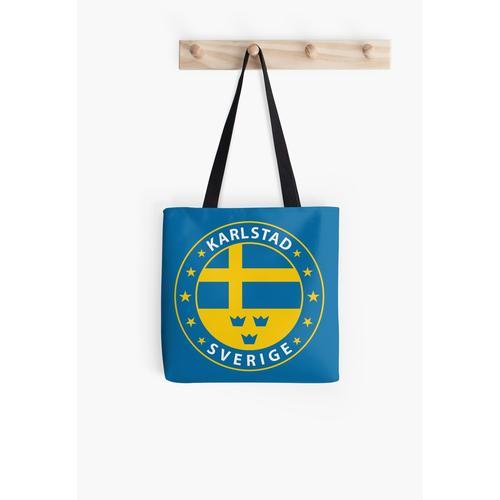 Karlstad, Karlstad Schweden, Karlstad Schweden, Karlstad Aufkleber, Stadt von Schweden Tasche