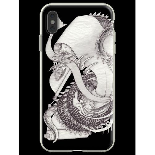 Lange Schlange lange Schlange lange Schlange Flexible Hülle für iPhone XS Max