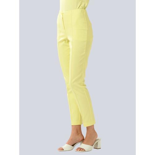 Alba Moda, Hose in sommerlicher Farbe, gelb