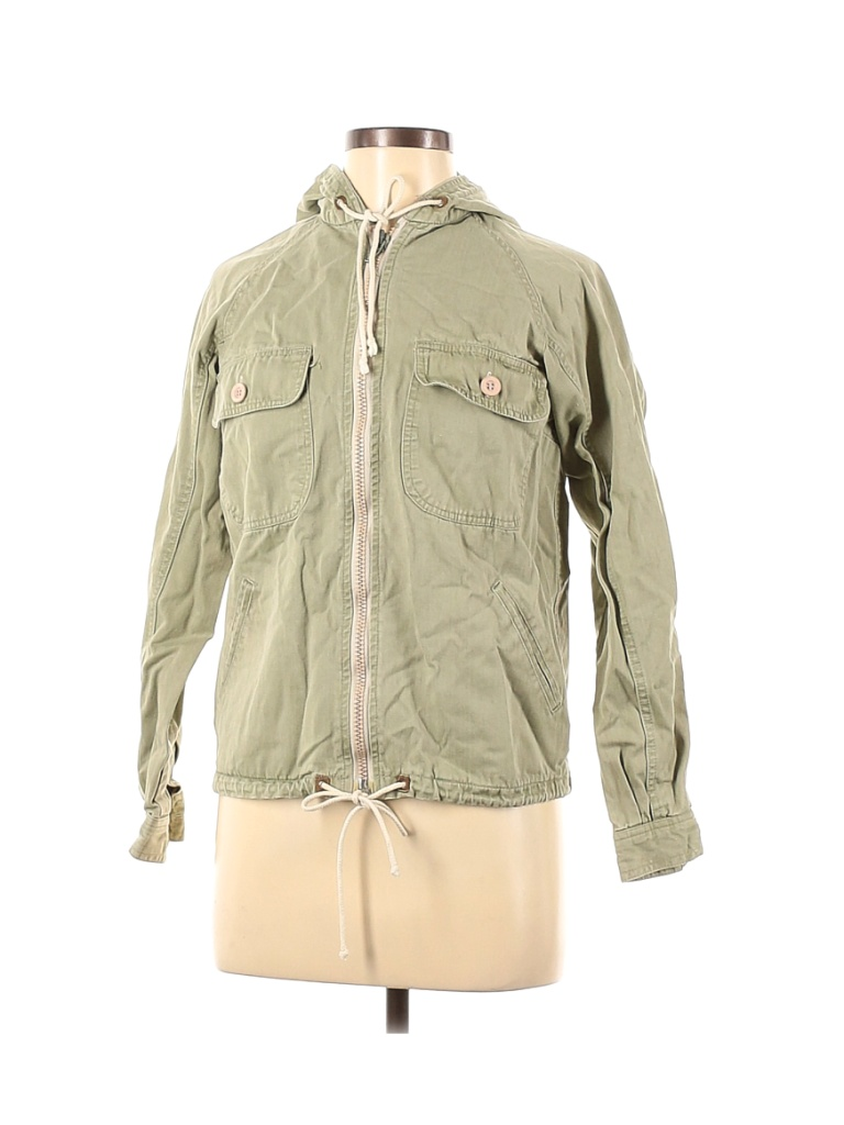 Assorted Brands Jacket: Green Solid Jackets & Outerwear - Size 7