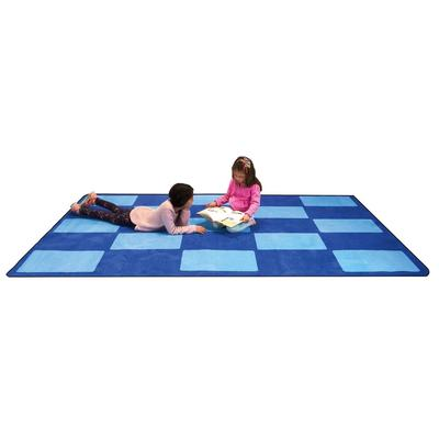 Checker Blue - Rectangle Large - Children's Factory CPR3006