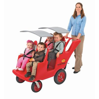 """""""4 Passenger Never Flat """"""""Fat Tire"""""""" Red/Gray Bye Bye Buggy - Children's Factory AFB6300FA"""""""