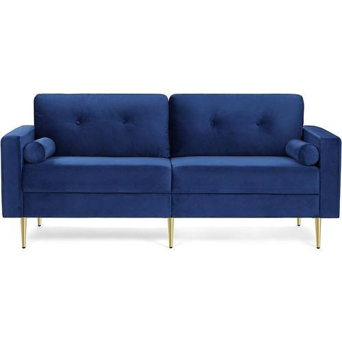 Songmics - VASAGLE 3-Sitzer Sofa, Couch für Wohnzimmer, Bezug aus Samt, für Wohnungen, kleinen