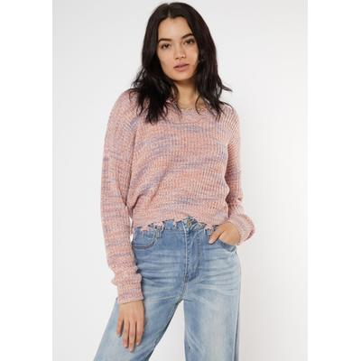 Rue21 Womens Mauve Space Dye Destructed Sweater - Size S