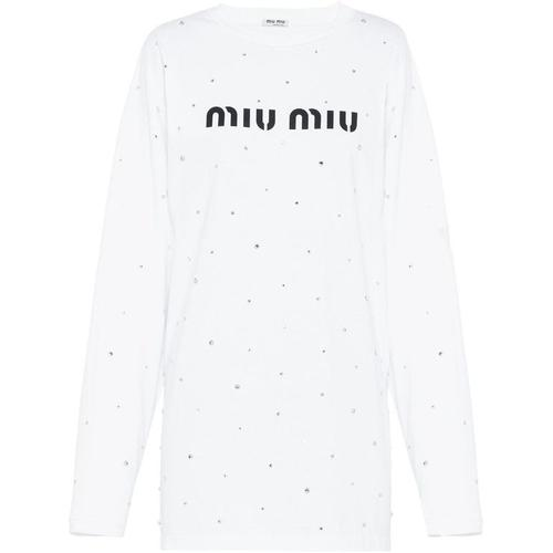 Miu Miu T-Shirt mit Kristallen