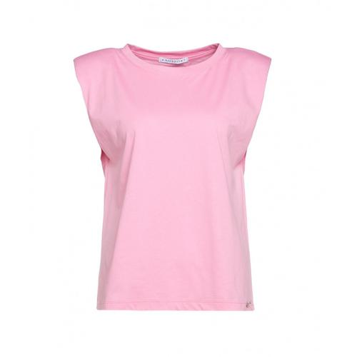 Kaos Damen Top mit Schulterpolster Pink