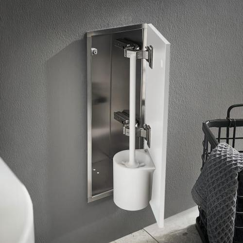 Emco Asis Pure Unterputz-Toilettenbürstengarnitur-Modul B: 170 H: 435 T: 148,5 mm, Anschlag rechts weiß matt 975551305