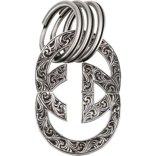 Gucci Schlüsselanhänger mit graviertem GG