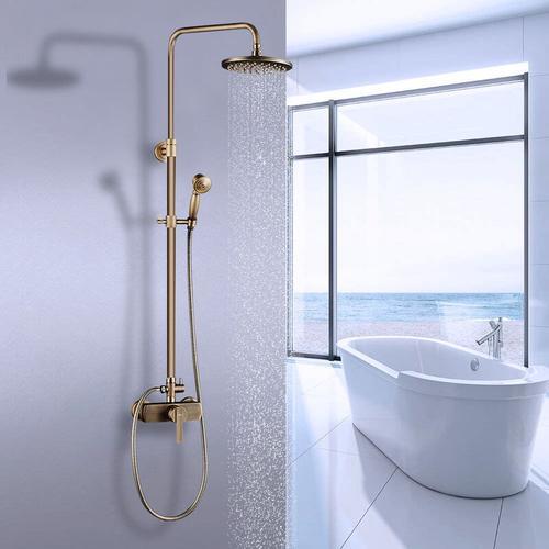 Duschsystem Vintage Duschset Regendusche Duschsäule mit höhenverstellbar Duschstange