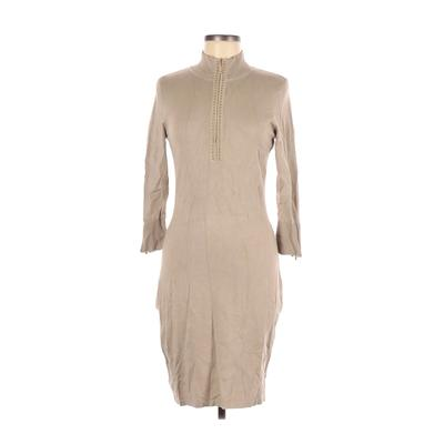 Calvin Klein - Calvin Klein Casual Dress - Sweater Dress: Tan Solid Dresses - Used - Size Small