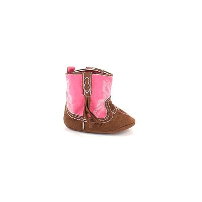 Booties: Pink Solid Shoes - Size...
