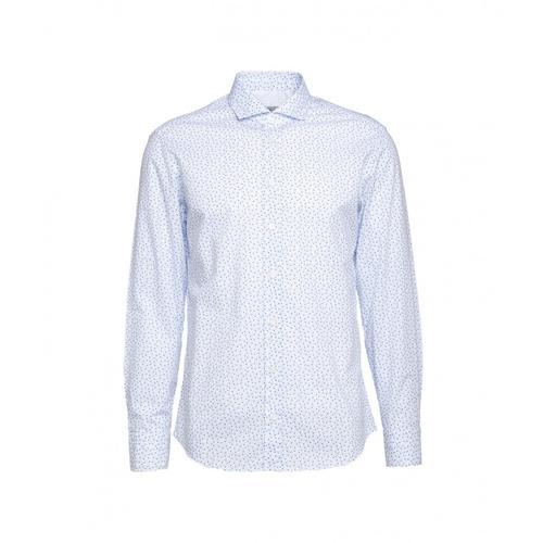 Bastoncino Herren Hemd im Muster Blau