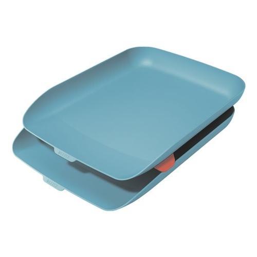 Briefkorb »Cosy« 2er-Set blau, Leitz, 27.4x8.1 cm