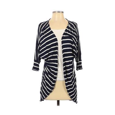 Zara Collection Kimono: Blue Color Block Tops - Size Small