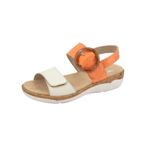 Sandale Remonte Orange/Creme-Weiß