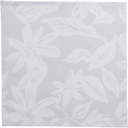 Guido Maria Kretschmer Home&Living Stoffserviette Tropicas, mit Blätter- und Blütenmotiv grau Stoffservietten Tischwäsche