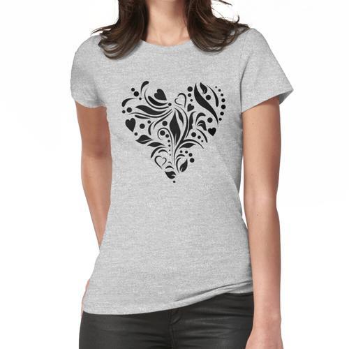 Graviertes Herz Frauen T-Shirt