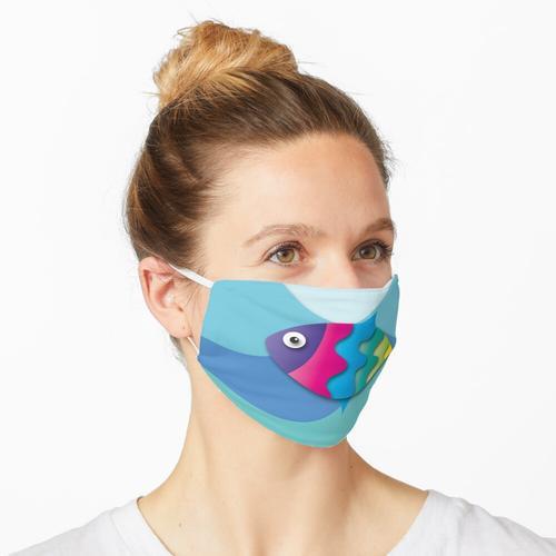 Bunter Fisch unter dem Meer Art Maske