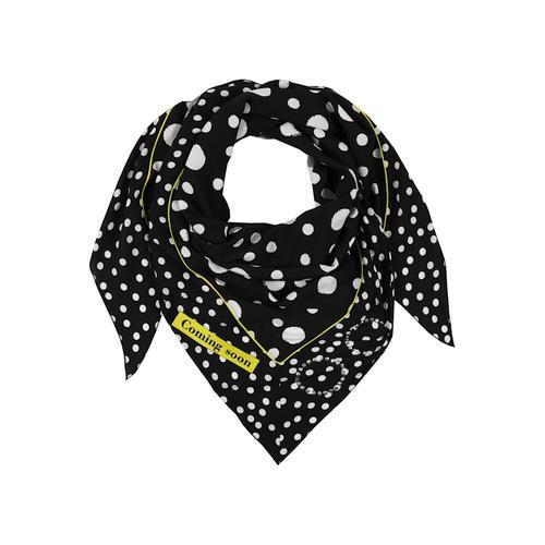 Dreieckstuch mit Allover-Muster Doris Streich schwarz/weiß