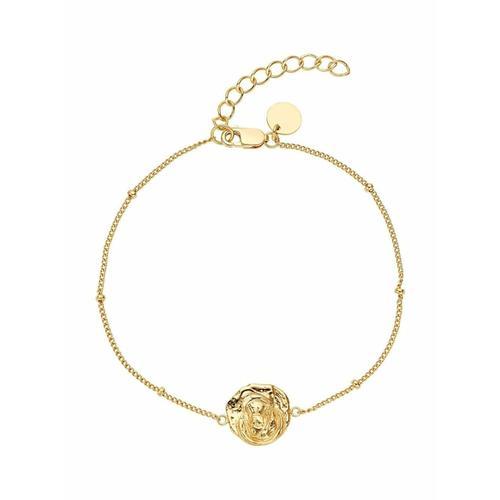 Armband für Damen, Sterling Silber 925, Heilige Maria Noelani Gold