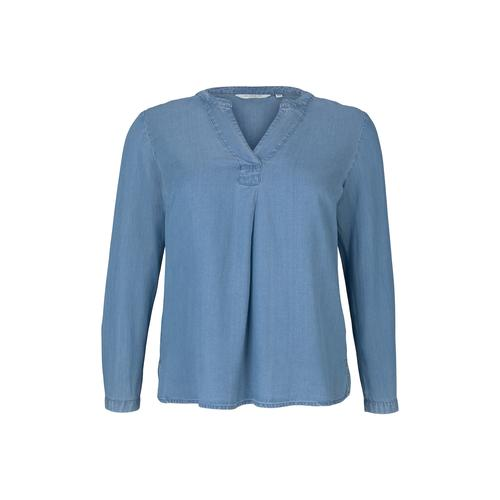 TOM TAILOR MY TRUE ME Damen Lyocell Jeansbluse, blau, Gr.44
