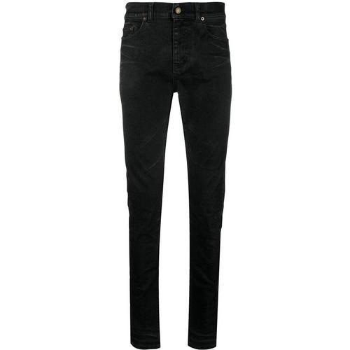 Saint Laurent Beschichtete Skinny-Jeans
