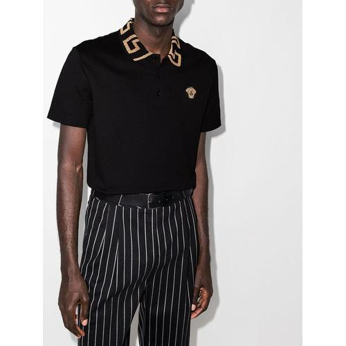Versace Poloshirt mit Medusa-Patch
