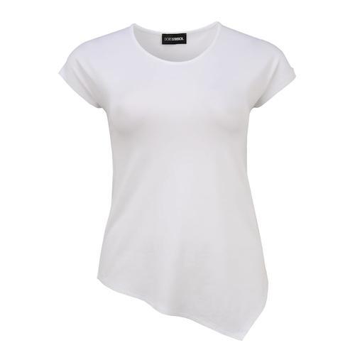 Shirt mit asymmetrischem Saum Doris Streich weiß