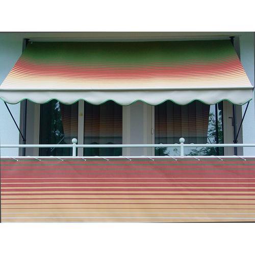 Angerer Freizeitmöbel Balkonsichtschutz Nr. 1800, Meterware, grün/rot/gelb, H: 75 cm grün Markisen Garten Balkon