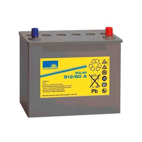Sunset Solarakkus Solar-Gel-Batterie 60 Ah, 60000 mAh, 12 V, Zum Anschluss von Solarmodulen und Stromsets grau Solartechnik Bauen Renovieren