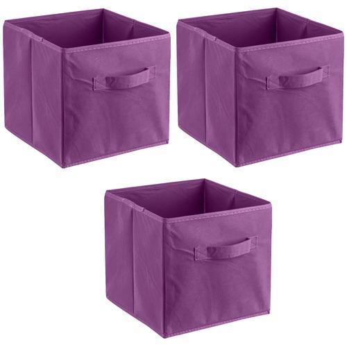 ADOB Aufbewahrungsbox Faltboxen, (Set, 3 St.), Inklusive Haltegriff lila Kleideraufbewahrung Aufbewahrung Ordnung Wohnaccessoires