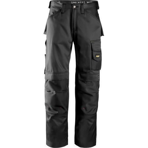 Snickers Workwear Arbeitshose DuraTwill, Gr. 48 - 56 schwarz Herren Arbeitshosen Arbeits- Berufsbekleidung