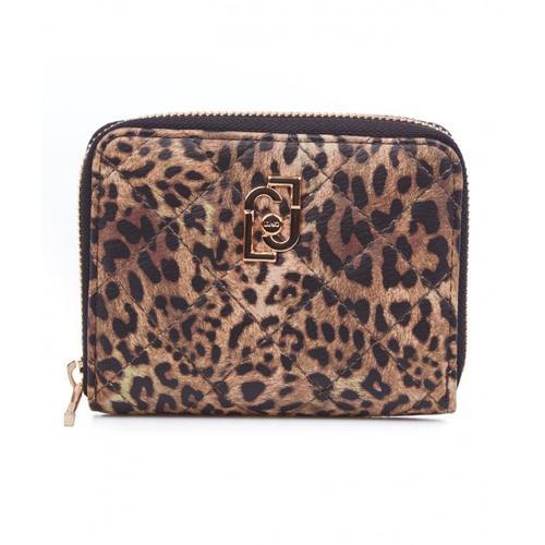 Liu Jo Damen Brieftasche im Animal Druck Braun