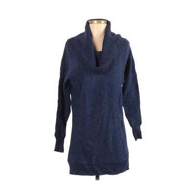 Caslon - Caslon Casual Dress - Sweater Dress: Blue Solid Dresses - Used - Size X-Small