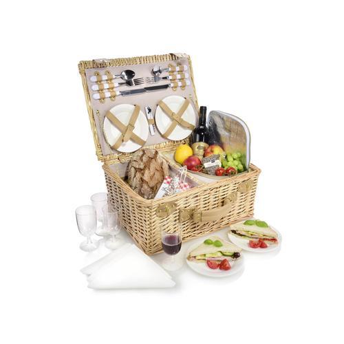 SÄNGER Picknickkorb Picknickkorb, (27 St., für 4 Personen) braun Küchenhelfer Haushaltswaren
