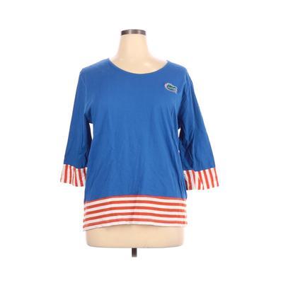 UG Apparel - UG Apparel Long Sleeve T-Shirt: Blue Solid Tops - Size X-Large