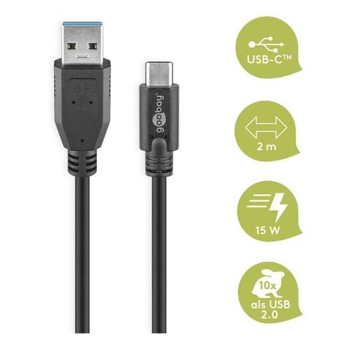 USB-C auf USB-A Adapter 2 m, goobay