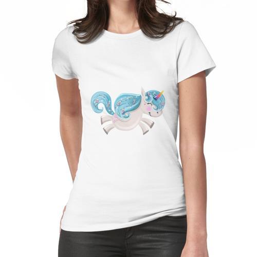 Nettes Bonbon-Einhorn, Pony-Cartoon Frauen T-Shirt