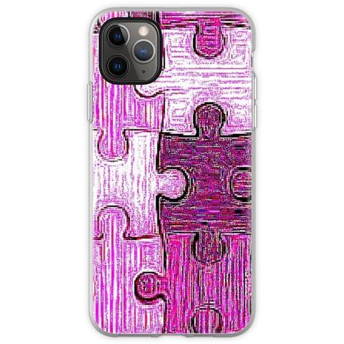 Puzzle-Maske, Puzzle-Maske, rosa Puzzle-Maske, rosa Puzzle-Mas Flexible Hülle für iPhone 11 Pro Max
