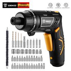 DEKO – perceuse sans fil détecteur, tournevis électrique, poignée de tournevis avec torche LED,
