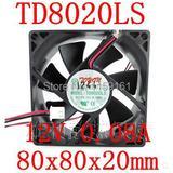 Ventilateur silencieux TD8020LS,...